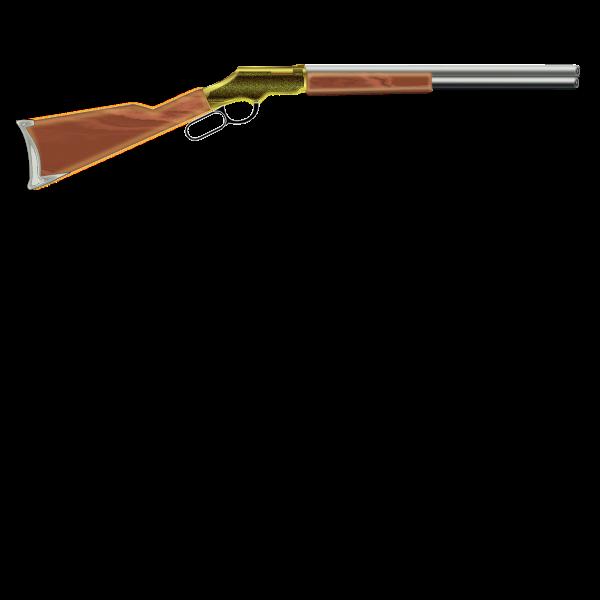Vector image of shotgun template