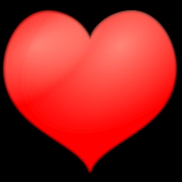 Heart-shaped design element