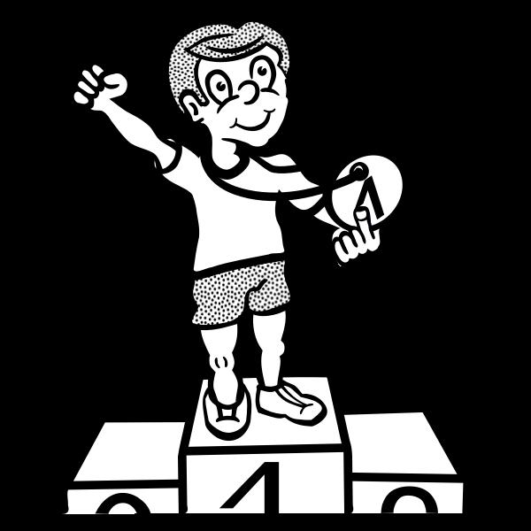 Graphics of medal winner boy