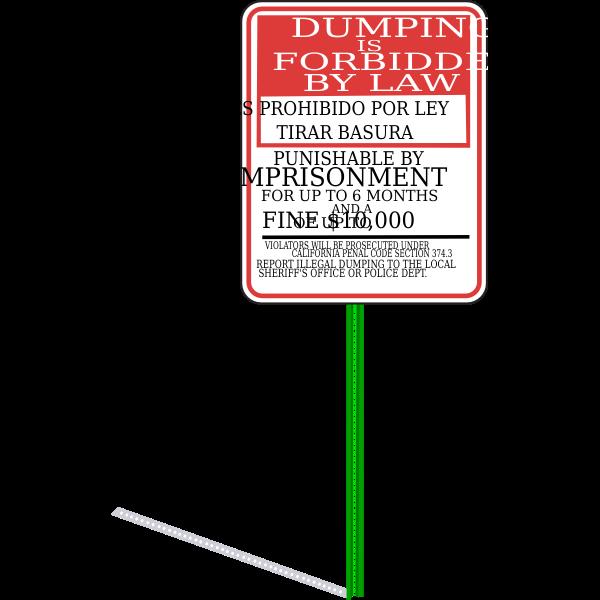 Sign No Dumping