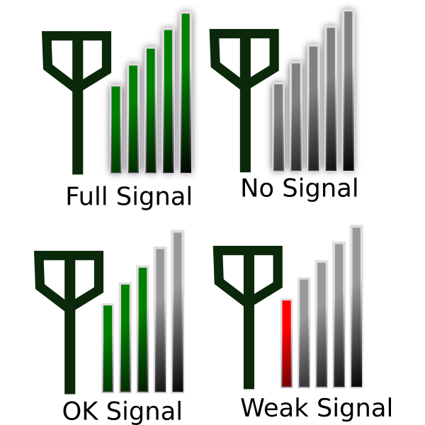 Signal strength icon vector image