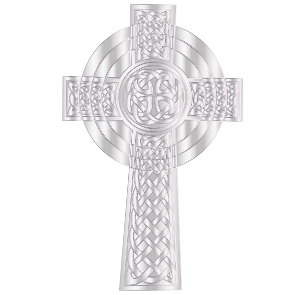 Silver Celtic Cross 2