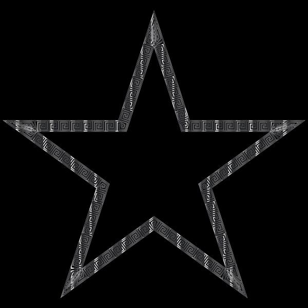 Silver Greek Border Star