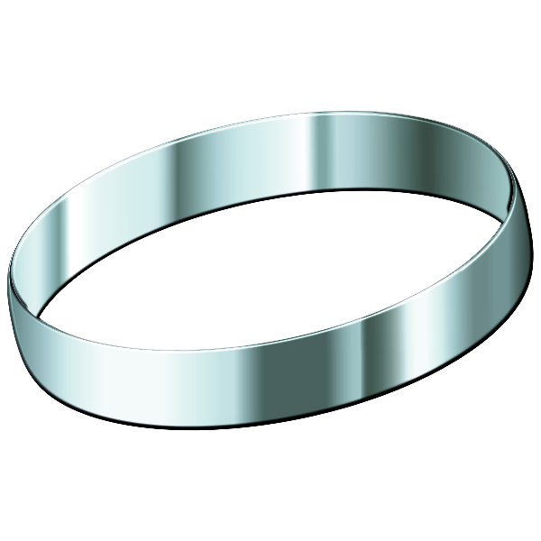 Silver ring vector image