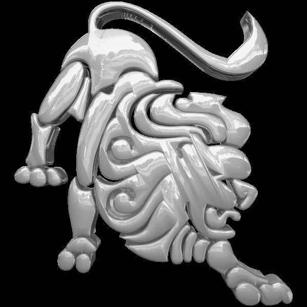 Silver Leo Zodiac Symbol