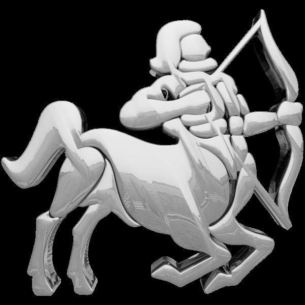 Sagittarius silver icon