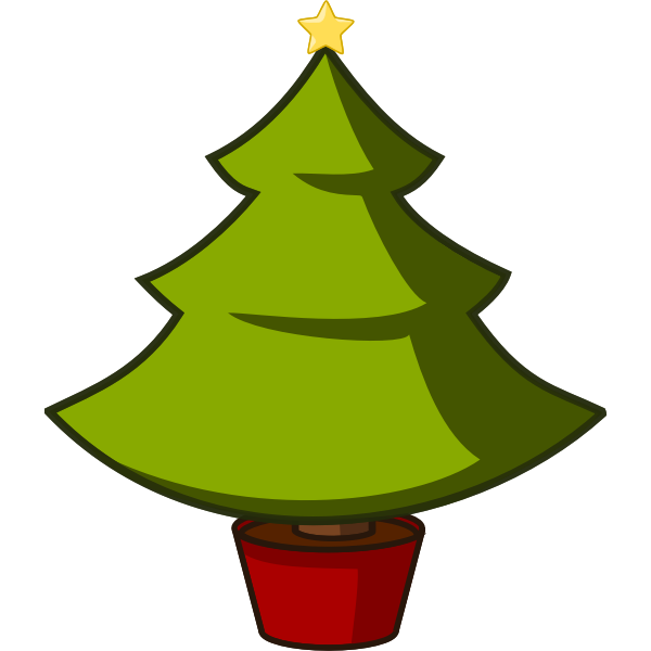 Christmas tree vector clip art