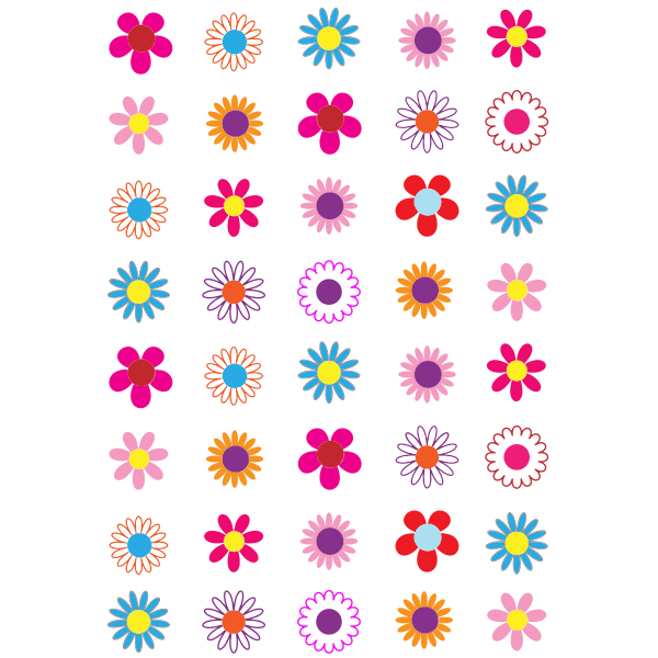 Simple Colorful Flowers