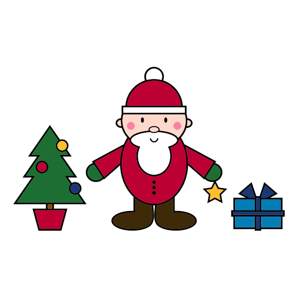 Simple Santa Claus Christmas scene