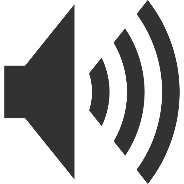 Audio pictogram vector drawing