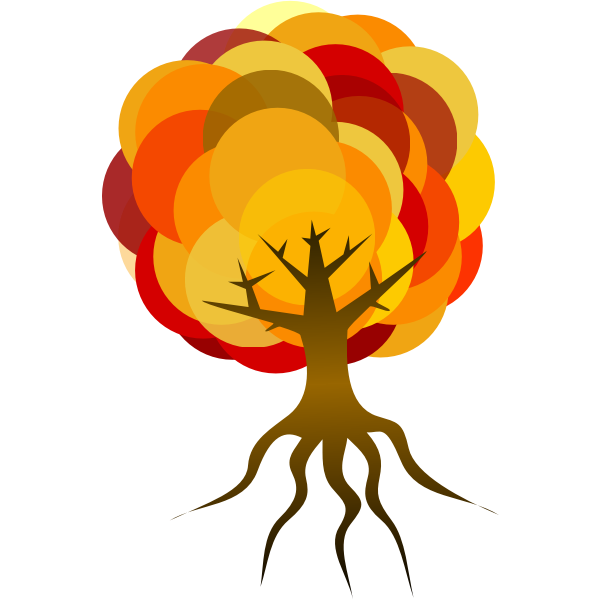 Tree with root vector graphics
