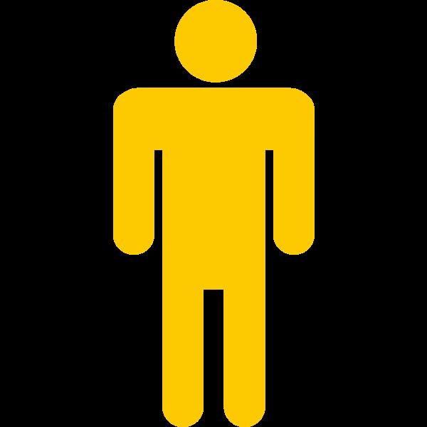 Yellow stick man