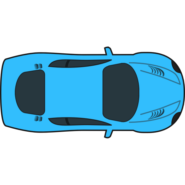 Blue racing car vector illustration