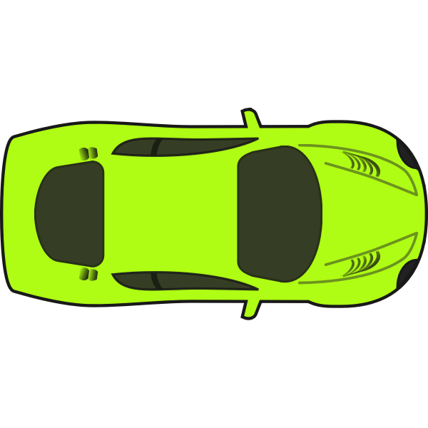 Bright green racing car vector illustration