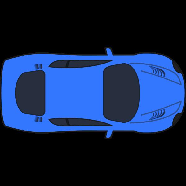 Dark blue racing car vector illustration