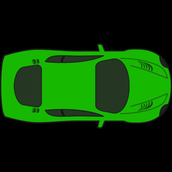 Green racing car vector illustration