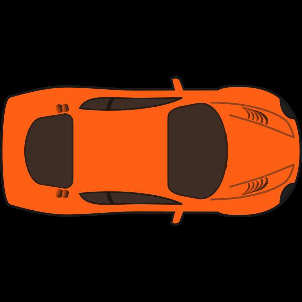 Orange racing car vector image