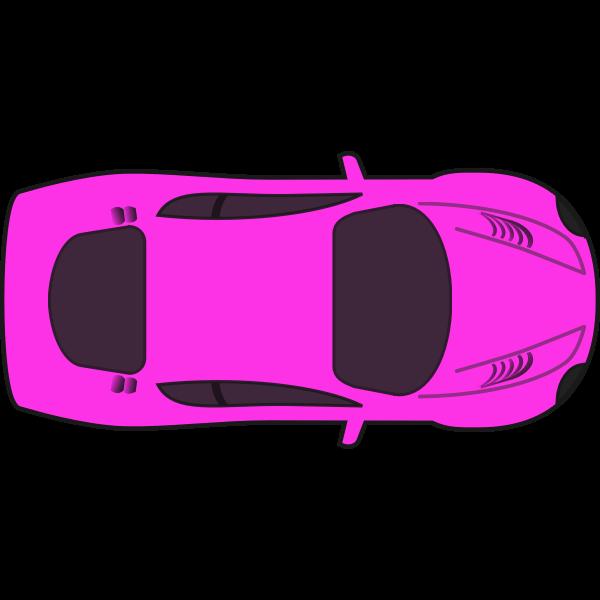 Pink racing car vector clip art
