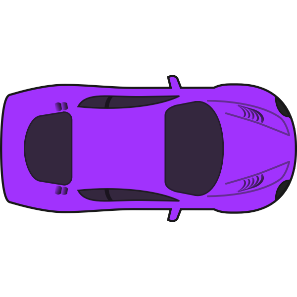 Purple racing car vector graphics