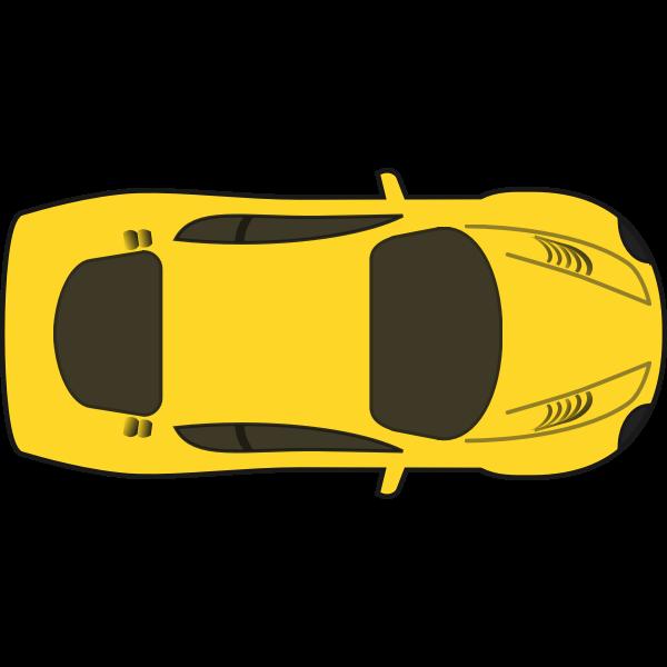 Yellow racing car vector illustration
