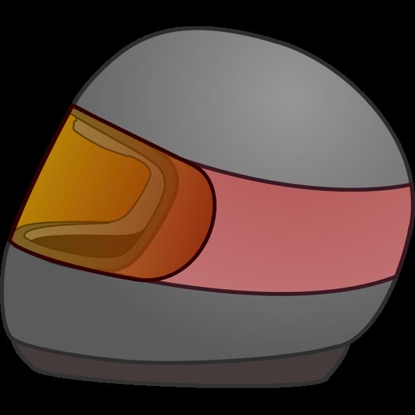 Bike racing helmet vector icon