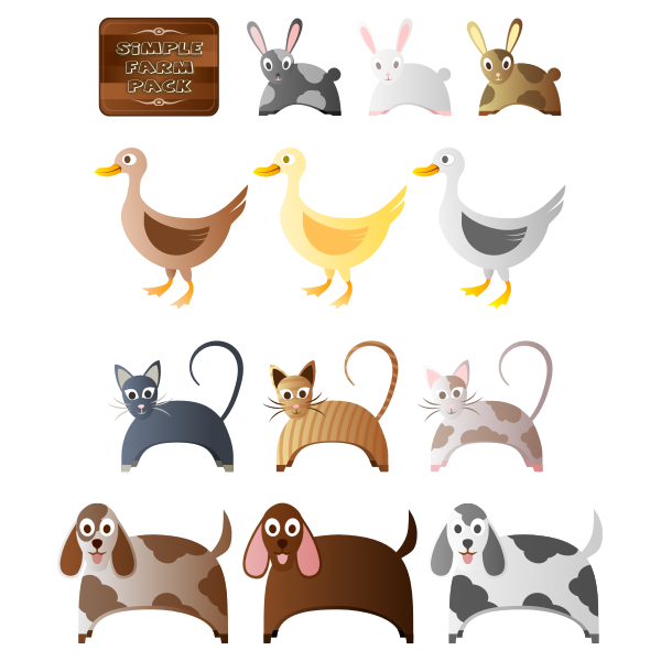 Simple Farm Animals 2