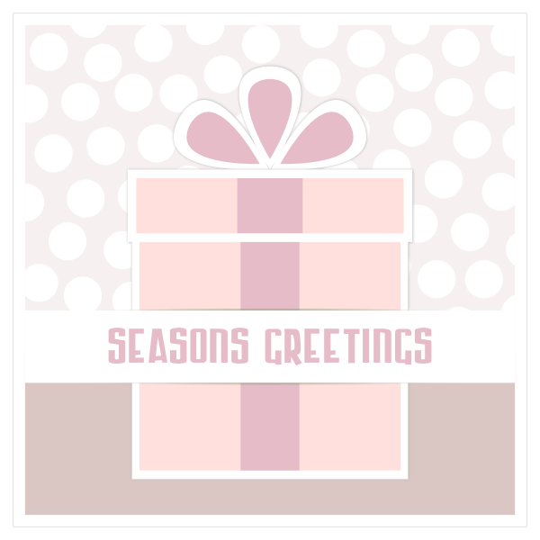Present boxgreeting card vector image