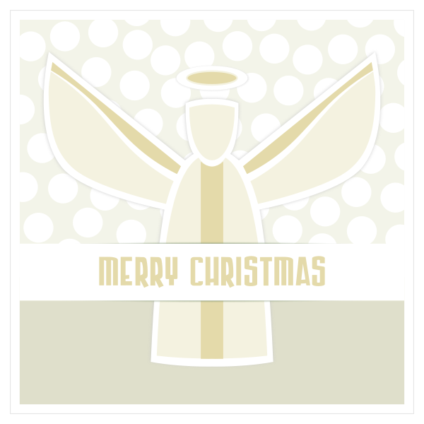 Angel greeting card vector clip art