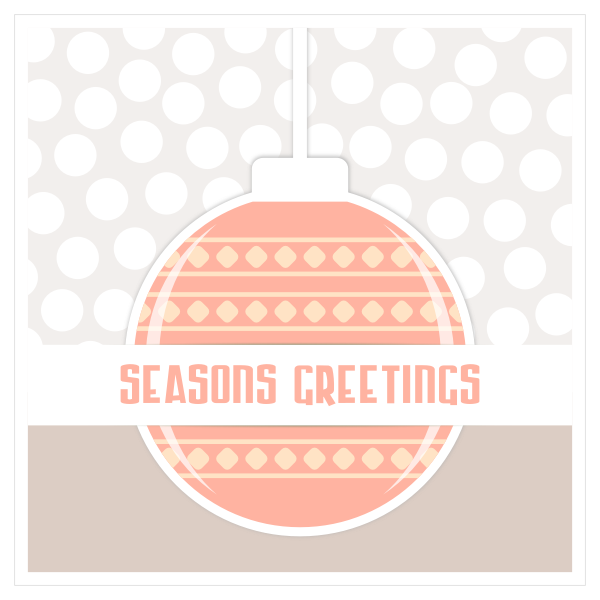 Christmas ornament greeting card vector image