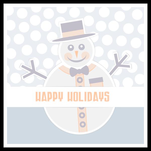 Snowman Happy Holidays greeting card vector image