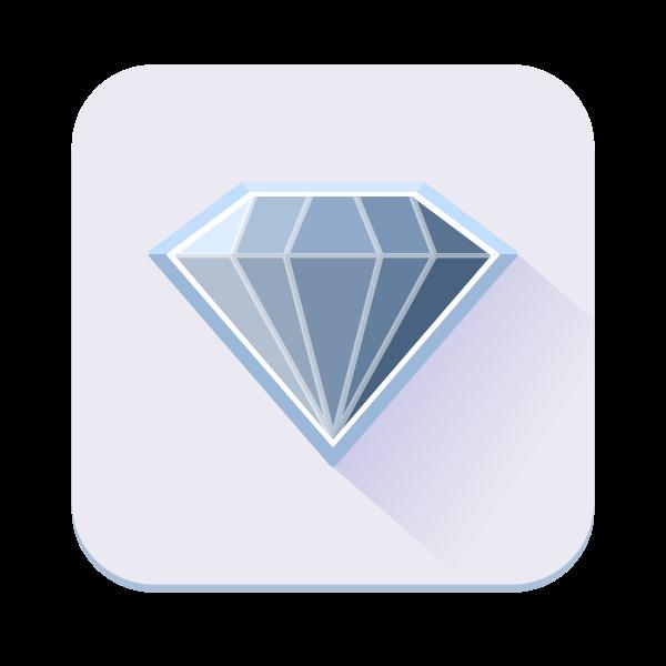 Single blue diamond icon vector image