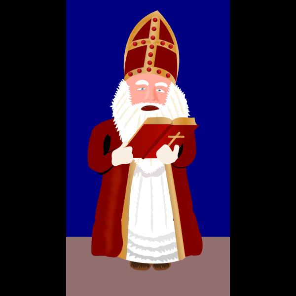 Sinterklaas reading from Bible vector image