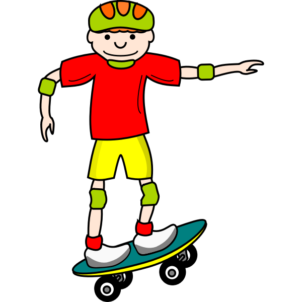 Skateboard kid vector