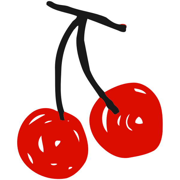 Sketched cherries