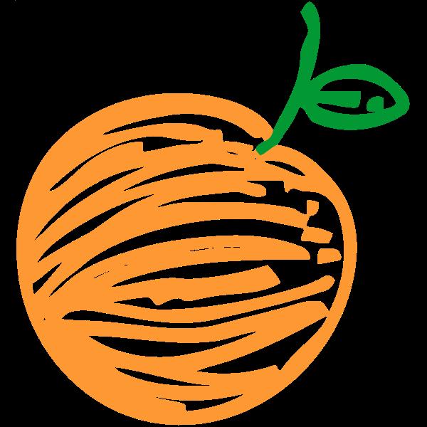 Sketched orange