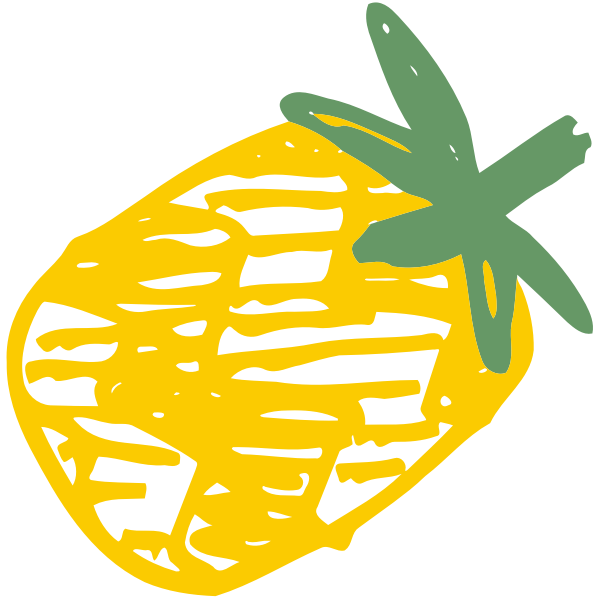 Sketched pineapple