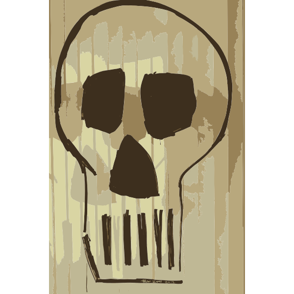 Skull Drawing with Montana Markers on Glass