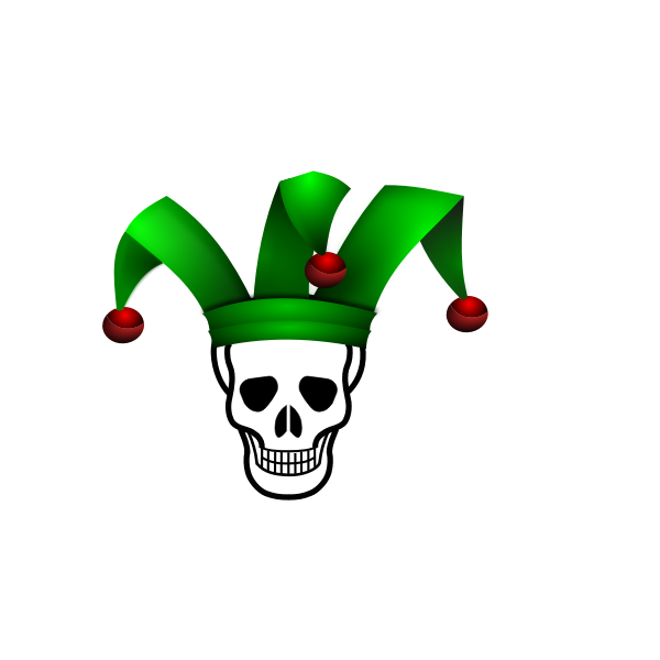 Skull jester vector image
