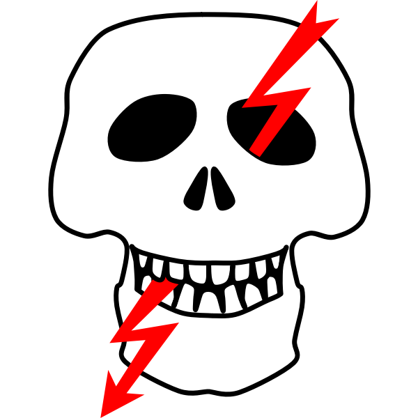 High voltage danger sign in Russia vector image