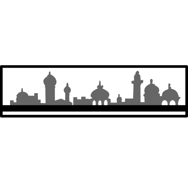 Skyline vector silhouette