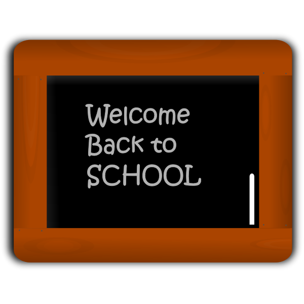 Black board vector image