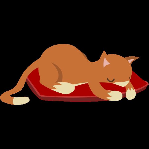 Glitch Sleeping Cat