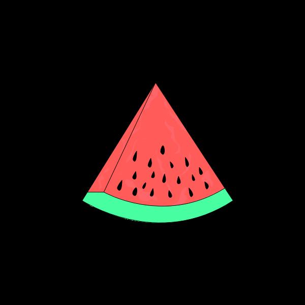 Watermelon Fruit Slice Free Svg