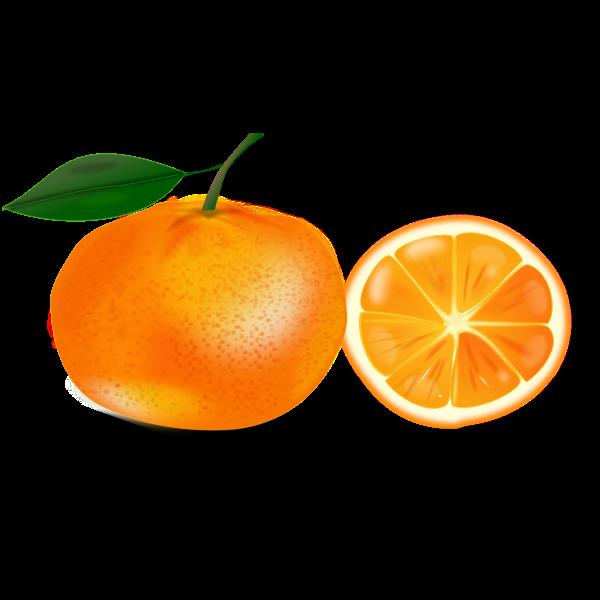 Orange and a slice
