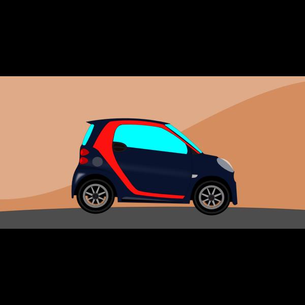 Animation of a mini car