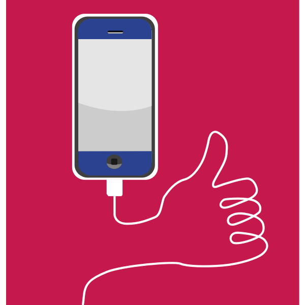 Smartphone Thumbs Up