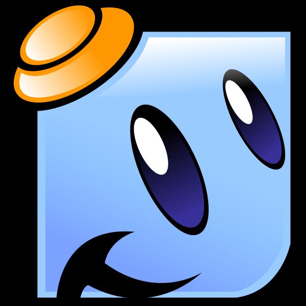 Happy blue emoji