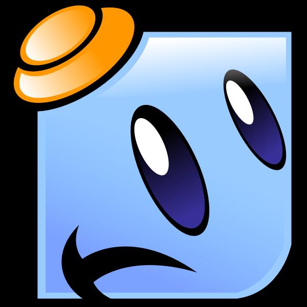 Sad squared emoji