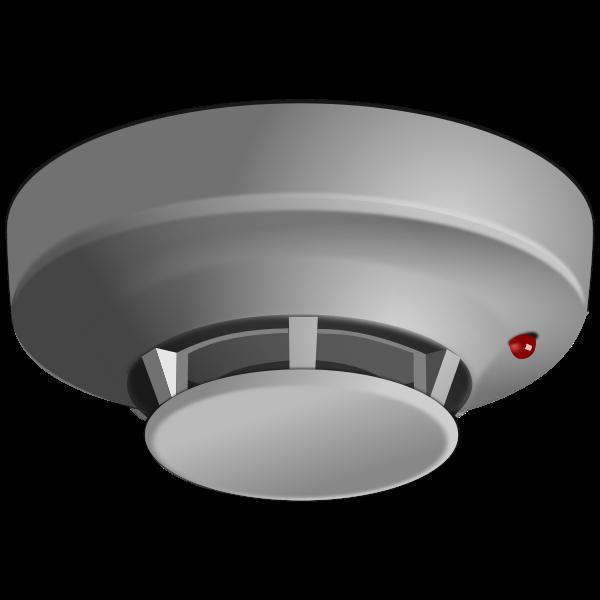 Grayscale smoke detector vector drawing