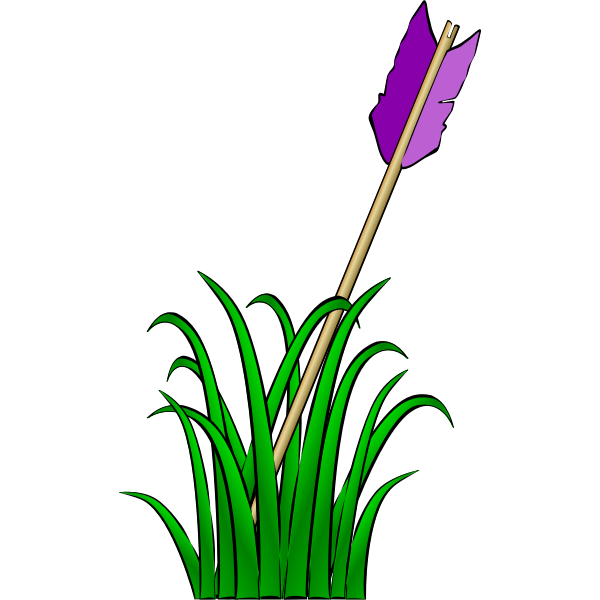 Arrow in the grass vector illustration